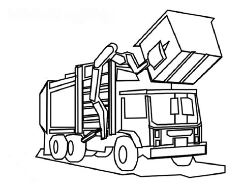 coloring pages garbage trucks garbage truck coloring page