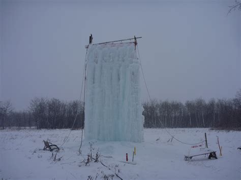Backyard Water Tower Homemade Manitoba Ice Wall Gripped Magazine
