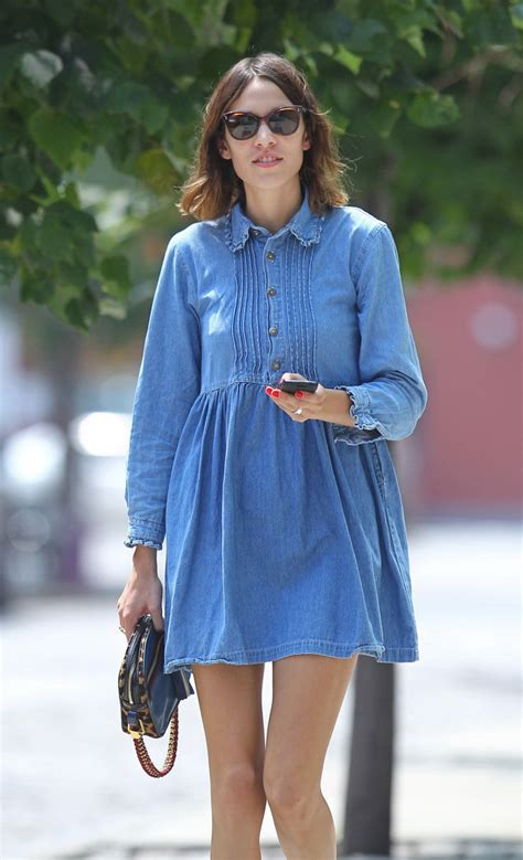 Denim Babby Doll how to wear a denim dress and look like a real style fashion