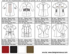Clothing Line Sheet Template by Learning The Lingo Fashion Terms To