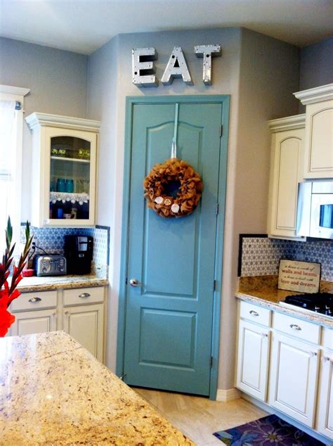 painted pantry door 10 project benjamin azores paint color idea paint pantry door at