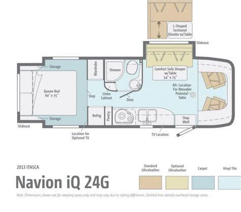 navion rv floor plans 2013 itasca navion iq 24g class c range rv
