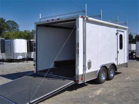 Enclosed Trailer Awning by 8 5x16 Enclosed Motorcycle Cargo Trailer A C Unit Awning