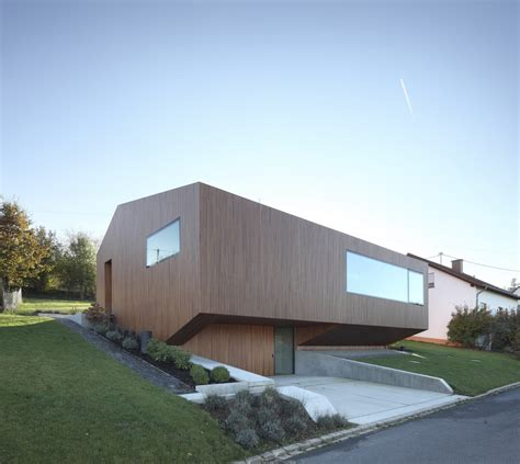 modern home design germany contemporary approach minimalist house with unusual shape