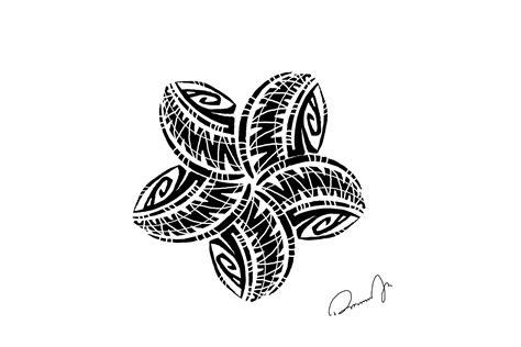 plumeria tattoo designs tribal plumeria