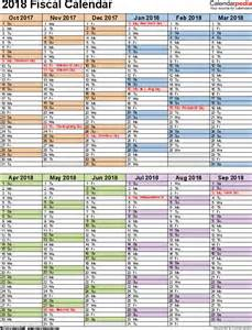 Calendar 2018 Doc Fiscal Calendars 2018 As Free Printable Word Templates