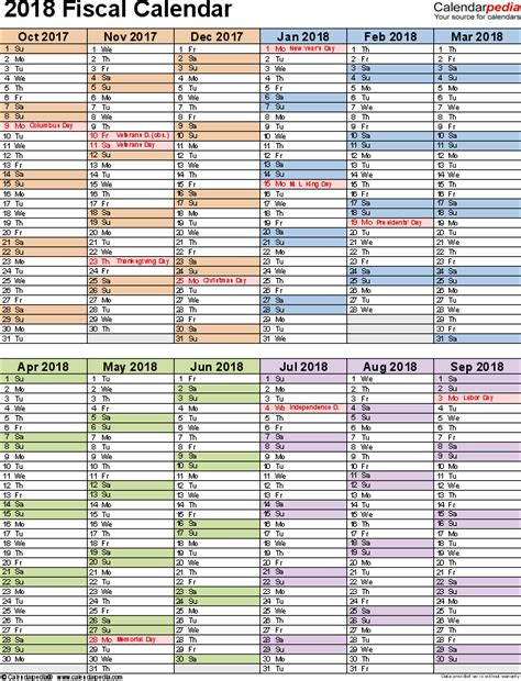 Calendar Docs Template 2018 Fiscal Calendars 2018 As Free Printable Word Templates