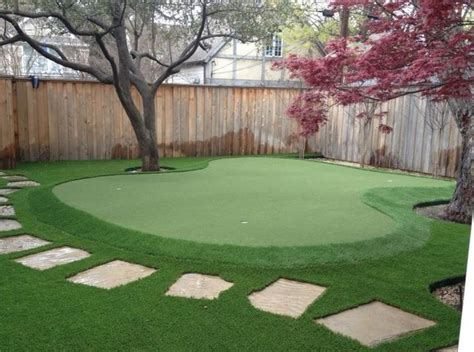 golf green backyard dallas backyard putting green