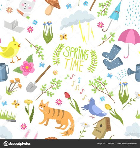 natural pattern ai spring time natural floral symbols icons beauty design