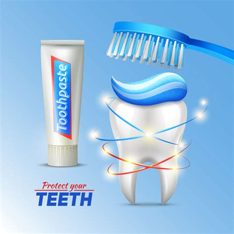 7 Unique Uses For Toothpaste by Toothpaste And Toothbrush Poster Vector Design 03 Gooloc