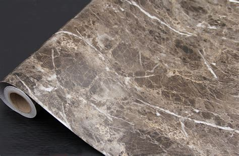 Granite Stickers For Countertops by Brown Granite Look Marble Gloss Vinyl Self