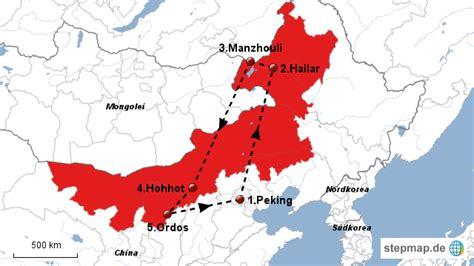 innere mongolei innere mongolei robin m landkarte f 252 r china