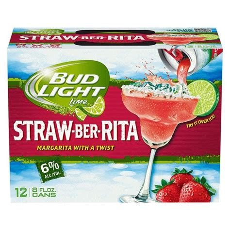 bud light 12 pack cans bud light lime straw ber cans 8oz 12 pack