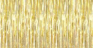 gold fringe curtain not just another southern gal metallic gold 3ft x 8ft