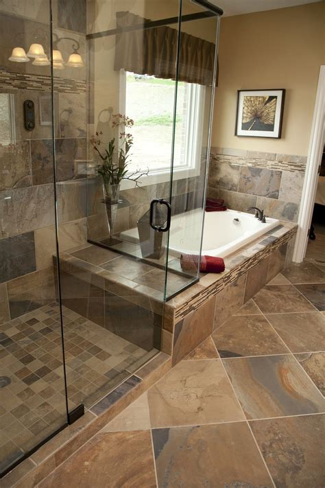 Master Bathroom Tile Designs | slate bathroom on pinterest slate tile bathrooms slate
