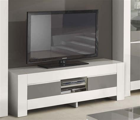 Meuble Blanc Gris by Meuble Tv Gris Et Blanc Laqu 233 Italien Qualit 233 Haut De Gamme
