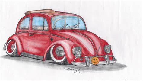 stanced cars drawing 65 vw beetle 1300 stanced by mister lou on deviantart