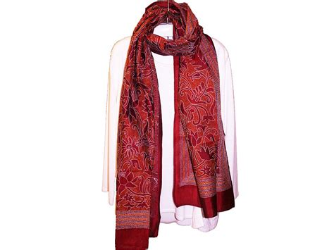 embroidery silk scarf silk scarves with embroidery kantha scarves craft montaz