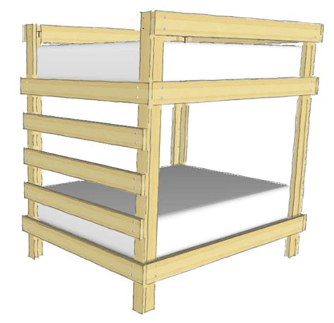 diy double bunk bed plans  woodworking