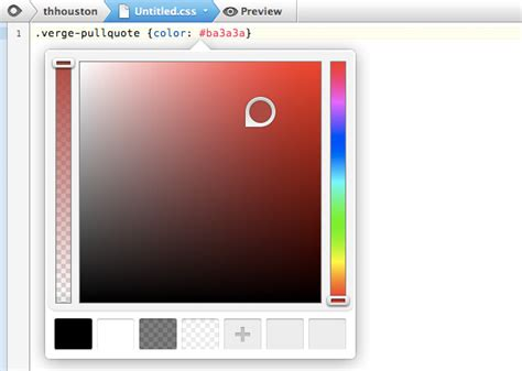 color picker css coda 2 0 and diet coda for preview the verge