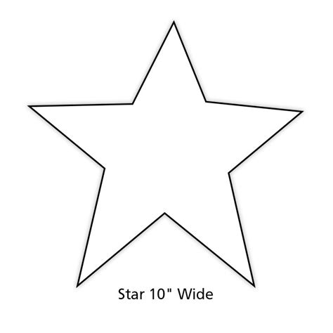 best photos of big star cut out printable star pattern