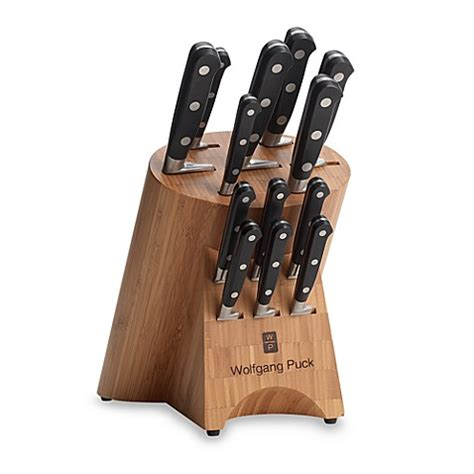 wolfgang puck kitchen knives wolfgang puck gourmet collection 14 piece cutlery set