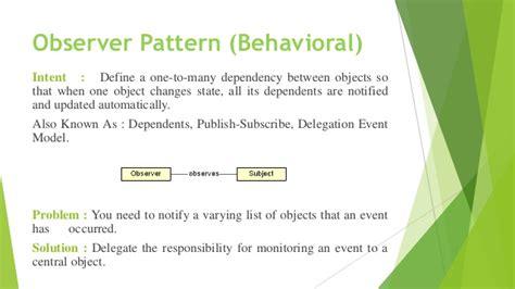 pattern behavior definition design pattern presentation