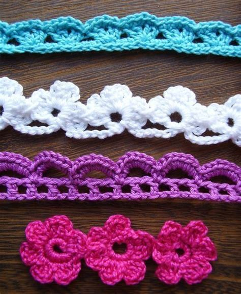 crochet flowers and lace trim tutorials my favorite