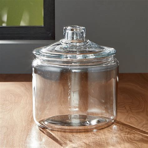 glass jars heritage hill 96 oz glass jar with lid crate and barrel