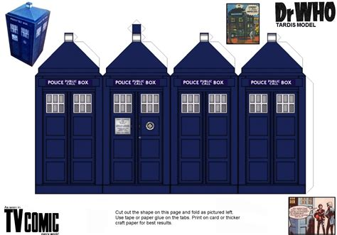 new tv comic tardis paper model by gfoyle on deviantart
