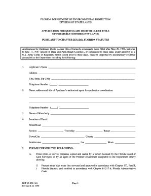 blank quit claim deed form florida fill