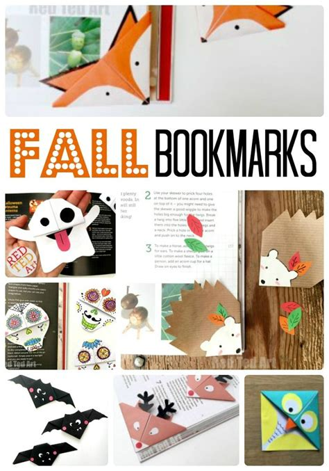 bookmark craft ideas for fall corner bookmark ideas for children bookmark ideas