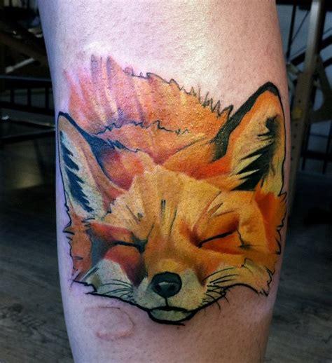 finger tattoo fox watercolor fox head www pixshark com images galleries