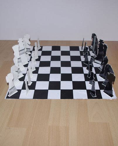 How To Make A Paper Chess Set - cardboard chess set