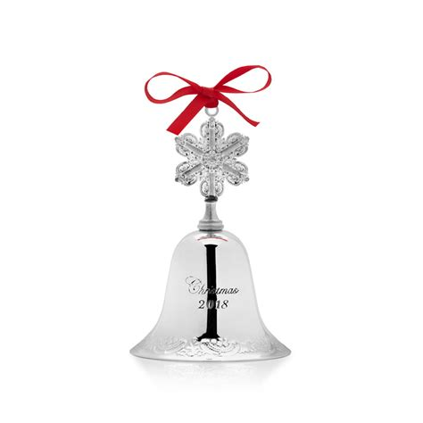 wallace silver bell 2018 wallace silver grande baroque bell 2018 bell ornament