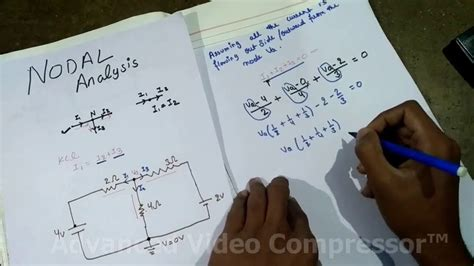 node js tutorial hindi nodal analysis network solving through node method in