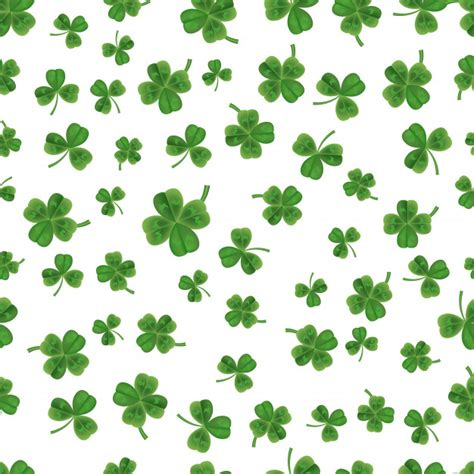 clover background seamless clover background vector premium