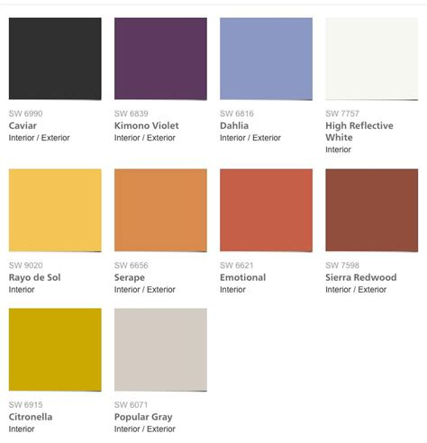 hottest paint colors for 2017 9 best images about color inspiration sw colormix 2017 on