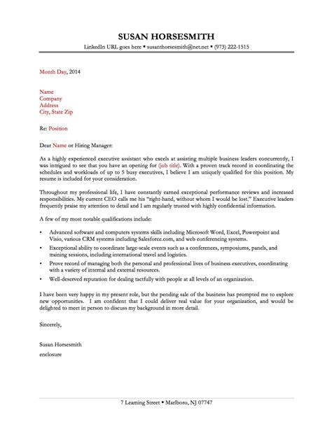 sample of cover letter for administrative assistant executive in