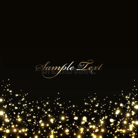 black and gold lights fundo preto luxuoso luzes do ouro imagens de stock