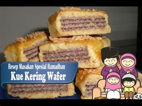 resep membuat kue kering wafer resep mudah membuat kue kering wafer kue lebaran youtube