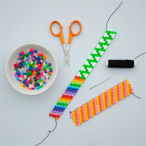 cool things to make with perler hama bead weaving in progress bead weaving hama