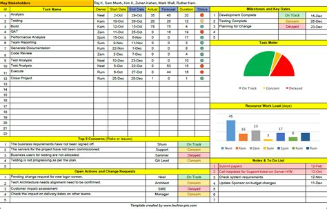project management tracking templates free excel project