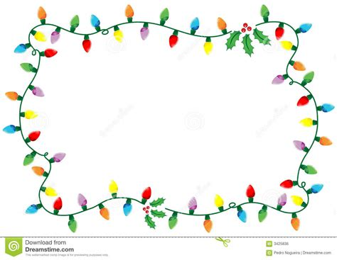 christmas lights frame royalty free stock image image