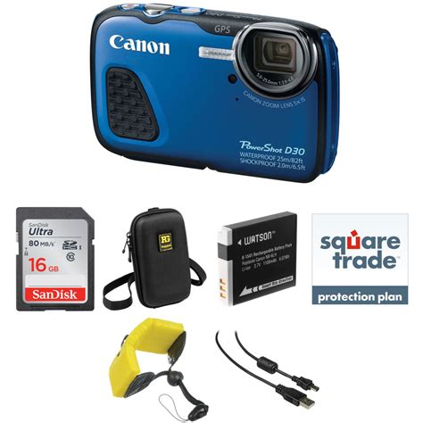 Waterproof Kamera Dslr Canon canon powershot d30 waterproof digital deluxe kit blue