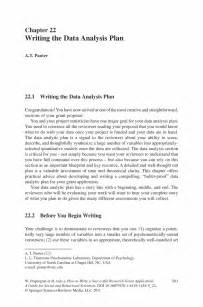 writing the data analysis plan springer