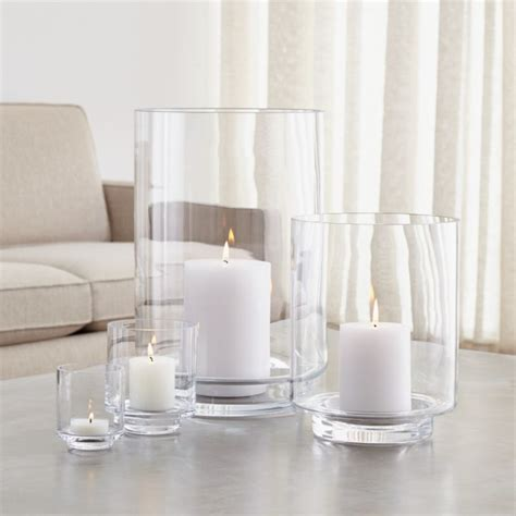 glass hurricane candle holders crate and barrel