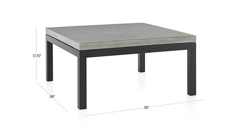 parsons square coffee table with concrete top crate and