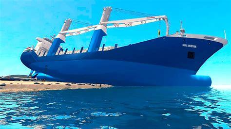 sinking boat gta 5 grand theft auto iv cargo vessel big ship youtube