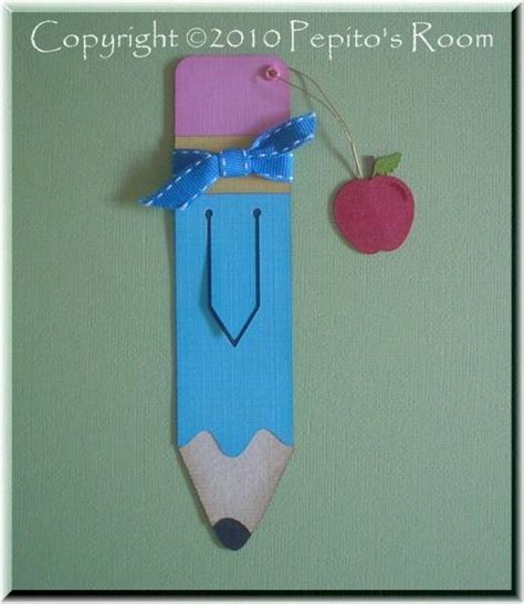 printable pencil bookmarks pencil bookmark back to school by pepitosroom at